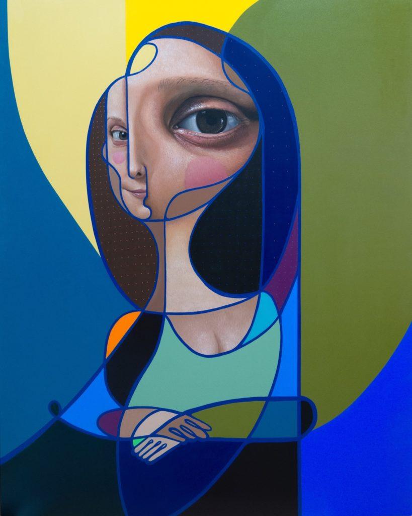 Mona Lisa II – 150x120 cm – Acrylique et huile sur bois - 2017