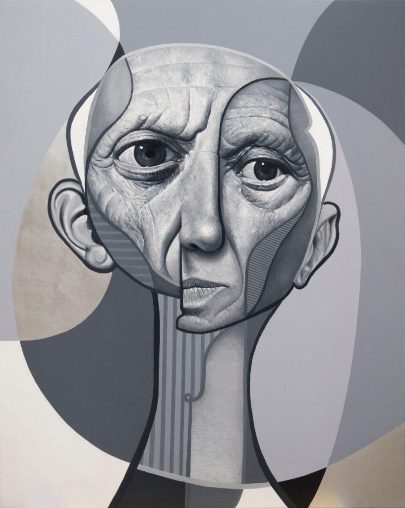 Pablo – 150x120 cm – Acrylique et huile sur bois - 2017